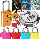 4 & 3 Digit Combination 70mm Disc Lock Padlock - Hardened Stainless Steel
