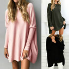 Womens Baggy Soft Sweater Sweater Loose Tops Blouses Jumper Pullover Plus Size