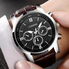 Luxury Men's Stainless Steel Analog Wrist Watch Leather Date Army Quartz Watches