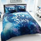 DREAMER GALAXY SPACE STARS DUVET COVER SET BLUE BEDDING - DOUBLE & KING SIZE