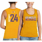 Los Angeles Lakers Majestic Threads Mjt Women's Vertical Tri-Blend Nn Tank