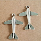 20pcs Silver Plated Aircraft Charm Pendant DIY Jewelry Accessory 35x25mm