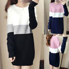 Chic Women Casual Knit Pullover Slim Loose Winter Bottom Sweater Shift Top Dress