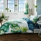 BOTANICAL PALM LEAVES DUVET COVER SET REVERSIBLE - DOUBLE & KING SIZE