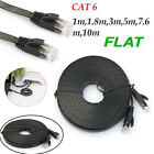 1~10M Flexible Durable CAT-6 RJ45 10Gbps Ethernet Flat Cable LAN Network Cord PC