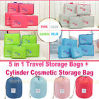 5 Packing Cube Pouch Set Suitcase Storage Bags Travel Cosmetic Makeup Organizer
