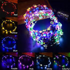Creative LED Xmas Party Women Light Up Flower Headband Hair Wreath Garland Hot