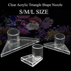 S/M/L Clear Aquarium Fish Tank Triangle Duckbill Nozzle Water Outlet Return Pipe