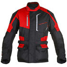 OXFORD PRODUCTS DOWNTOWN 2.0 MS LONG TEXTILE MOTORCYCLE JACKET RED SMALL
