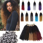3PC=270G Water Wave Crochet Afro Braiding Braids 100% Natural Hair Extensions LE