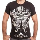 D & A Lifestyle Limited Edition Skull Print T-Shirt Schwarz(136853)