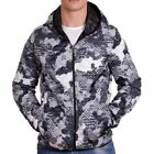D & A Lifestyle Allover Print Hooded Übergangsjacke Grau(137121)