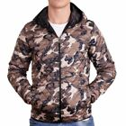 D & A Lifestyle Allover Print Hooded Übergangsjacke Braun Camouflage(137122)