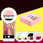 Universal Selfie LED Ring Flash Fill Light Clip Camera For iPhone Samsung LG HTC