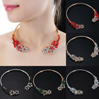Fashion Jewelry Chain Crystal Glass Collar Charm Statement Pendant Bib Necklace