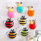 Cute Cartoon Animal Snail Bee Toothbrush Holder Wall Suction Holder N4U8