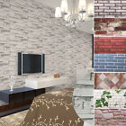 10M Self Adhesive PVC Waterproof Stone Brick Wall Paper Home Office Decoration
