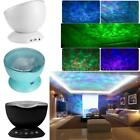 Multicolor Ocean Wave Light Projector Night Light with Mini Music Player US O8V4