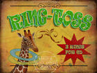 RING TOSS  VINTAGE STYLE FUNFAIR CIRCUS METAL SIGN: 3 SIZES TO CHOOSE