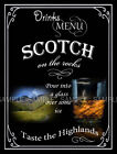 SCOTCH ON THE ROCKS  RETRO PUB,BAR,CLUB  ,METAL SIGN :3 SIZES TO CHOOSE FROM