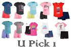 Under Armour Tee Shorts Set 2 piece Girls Outfit Athletic Sports Skort Skirt pc