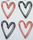 Modern Heart Die Cut Shapes - Assorted sets of 10, Valentines, Weddings, Cards