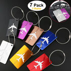 Aluminium Holiday Travel Luggage Tags Suitcase Baggage Address Name ID Label x 7