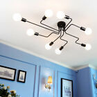 Industrial Vintage Semi Flush Ceiling Chandelier Light Steampunk Pendant Lamp