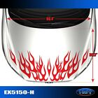 5150-H Hood Flame Tuner Vinyl Graphics Decals CAR TRUCK High Quality EgraF-X