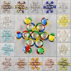 M284-300 14x10 Wholesale Lampwork Glass 925 Silver Bead Finding