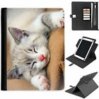 U-CATB01 CAT UNIVERSAL PROTECTIVE TABLET LEATHER FLIP WALLET 360 SWIVEL CASE