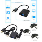 1080P HDMI Male to VGA Female Video Cable Cord Converter Adapter For PC DVD HDT