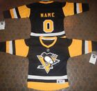 Pittsburgh Penguins Kids Size 4/7  NHL Hockey Jersey add  any name