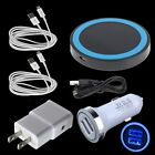 For Samsung Galaxy S7 S6 Edge+ Note 5 Car Wall Qi Wireless Charger Micro Cables