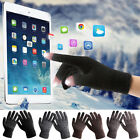 1 Pair Fashion Mens Winter Warm Fleece Lined Thermal Knitted Gloves Touchscreen