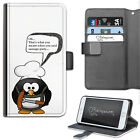 HAIRYWORM FUNNY BIRD SAUSAGE PARTY DELUXE LEATHER WALLET PHONE CASE, FLIP CASE