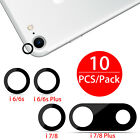 10Pcs Rear Back Camera Lens Glass Cover Adhesive Sticker for iPhone 6/6S/7/8