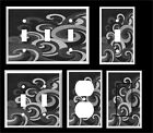 Swirl Wave  Gray Shades Home Decor ~ Light Switch Cover Plate