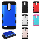 For LG Tribute Dynasty Tuff Trooper HYBRID TPU Protector Case Phone Cover