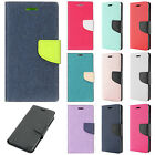 For T-Mobile Revvl Plus 2 Tone Fabric Wallet Pouch Flip Case Cover +Screen Guard