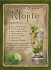 MOJITO   COCKTAIL RECIPE:HOME BAR:METAL SIGN :3 SIZES TO CHOOSE FROM