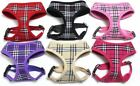 Plaid Mesh Designer Dog Pet Puppy Soft Mesh Harness