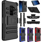 SAMSUNG GALAXY S9 & S9 PLUS Shockproof Defender Case Swivel Belt Clip Hard Cover