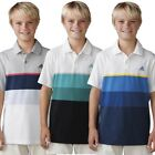 Adidas Boys ClimaCool Engineered Stripe Golf Polo – Multiple Colors/Sizes - New