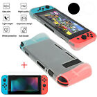 Silicone TPU Back Case Cover with Screen Protector Film for Nintendo Switch