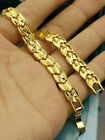 """Selected Lady's 18k Yellow Gold Filled Long Lasting Bracelet Bangle Jewelry 7"""""""