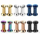 6 Pairs Stainless Steel Ear Flesh Tunnel Piercing Plug Expander Stretcher Set