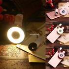 6 In 1 Clip On LED Light Fisheye Wide Angle Macro Lens Kit For N4U8