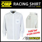 SALE! OMP RACING SPIRIT LONG SLEEVE SHIRT WHITE or GREY in COTTON MENS & LADIES
