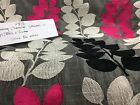 Static Caravan Curtains/pelmets/tiebacks Stunning grey/cerise Build own set